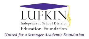 Lufkin ISD Ed Foundation Logo with slogan