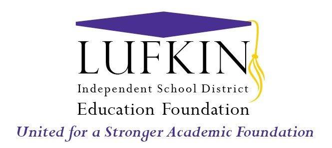Lufkin ISD Ed Foundation Logo with slogan